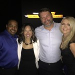 John Phillips and Lucia McBath at Armor of Light the Movie Premier